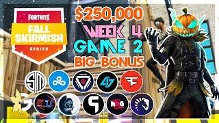 $250,000 🥊Big Bonus Fall Skirmish🥊 Week 4/Game 2 (Fortnite)