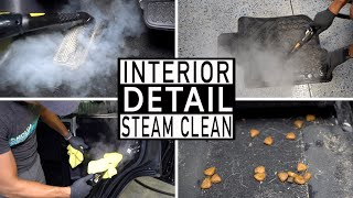 STEAM CLEANING A DIRTY CAR INTERIOR // Complete Interior Steam Cleaning and Car Detailing