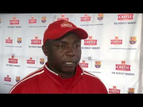 Aggrey Chiyangi on the Castle Lager Africa FC Barcelona Coaching Clinics