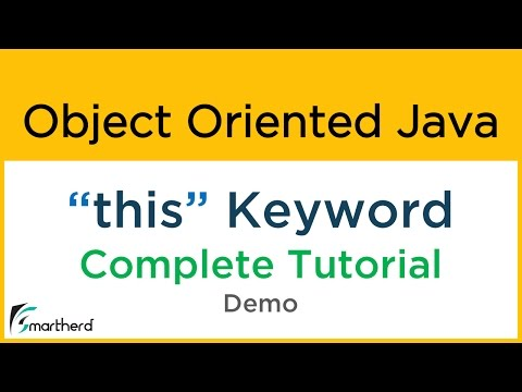 #14.1 Object Oriented Java Tutorial: THIS keyword