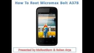 How To Root Micromax A37B and Micromax A46 without PC