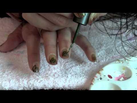 Decoracion Otoño para uñas cortas