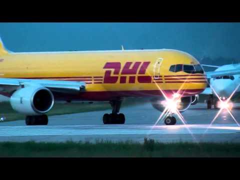 Der Tag beginnt gelb! Teil 2 Morgens am DHL Hub Leipzig / Halle