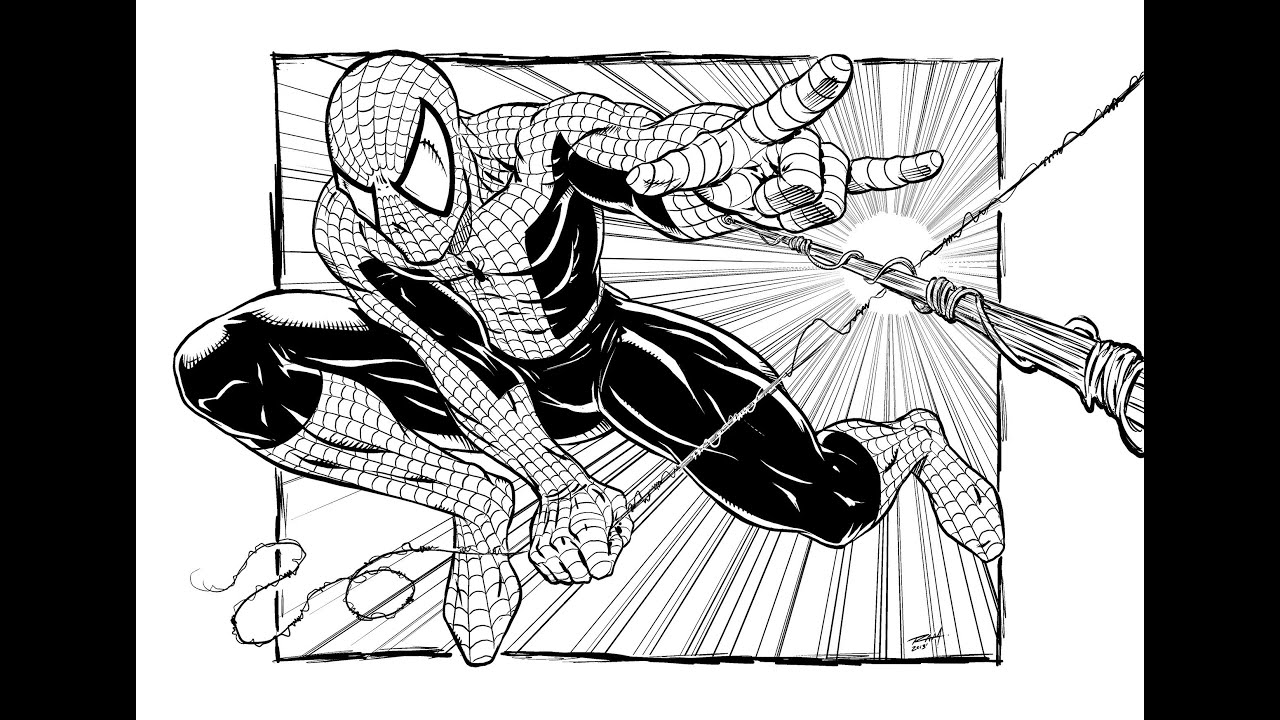 Spiderman Hand Drawing Spiderman Speed Drawing Comic