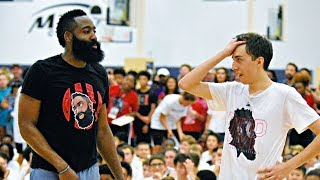 3 POINT CHALLENGE VS JAMES HARDEN