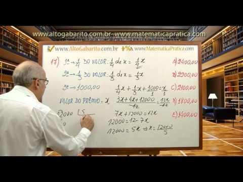 Videoaula Da Prova De Matemática Do Concurso Do Inss 2005 Cesgranrio - Resolvida E Comentada video