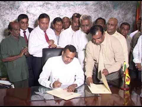 ASSUMING DUTIES AS THE MINISTER OF YOUTH AFFAIRS OF THE NEW GOVERNMENT BY MR.NIROSHAN PERERA