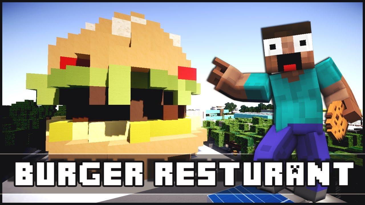 Карта Скай варс Гамбургер для Minecraft PE Minecraft гамбургер