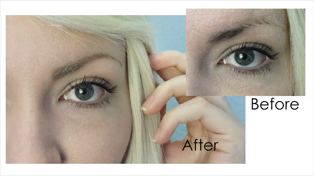 Eyebrow Routine How I Match Dark Brows With Blonde Hair