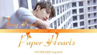 [Eng/Viet] BTS (방탄소년단) Jung Kook - 'Paper Hearts' [COVER] Color Coded Lyrics
