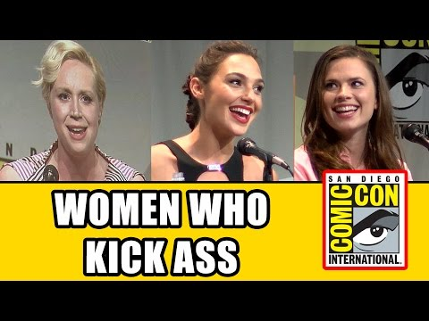 Women Who Kick Ass Comic Con Panel - Gal Gadot, Gwendoline Christie, Jenna Coleman, Hayley Atwell