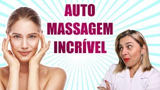 AUTO MASSAGEM FACIAL COM EFEITO LIFTING INSTANTÂNEO