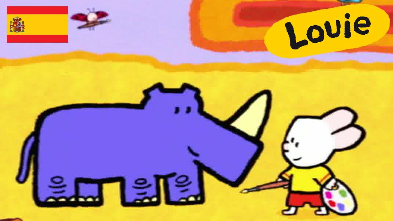 Dibujo Animado Rinoceronte Dibujos Animados Para Niños