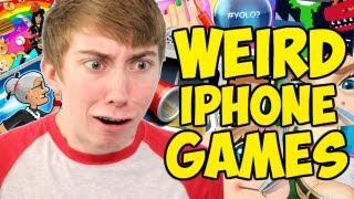 WEIRD IPHONE GAMES! (iPhone Gameplay Montage)