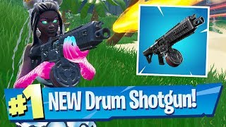 NEW Drum Shotgun Gameplay - Fortnite Battle Royale