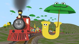 Learn about the Letter U - The Alphabet Adventure With Alice And Shawn The Train