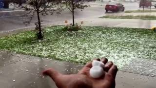Golf ball sized hail in Calgary