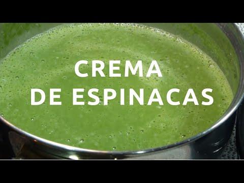 Crema de espinacas, receta fácil
