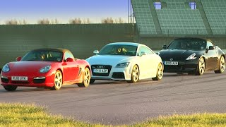 Audi TT RS vs Porsche Boxter S vs Nissan 370Z #TBT - Fifth Gear