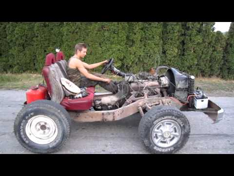 350 v8 go cart first run burnout