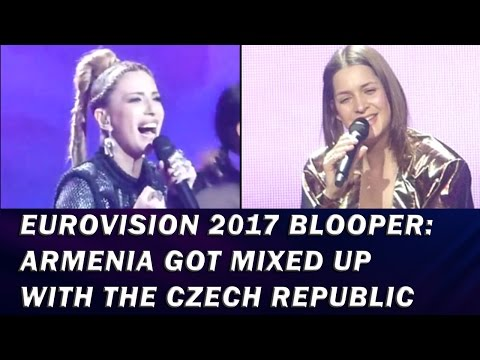 Eurovision 2017 blooper: Armenia got mixed up with the Czech Republic's song 😅