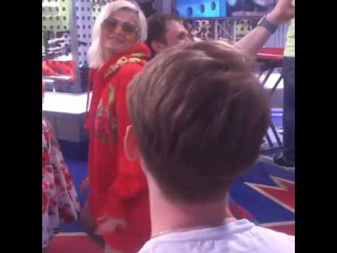Bebe Rexha Twerking At Europa Plus!