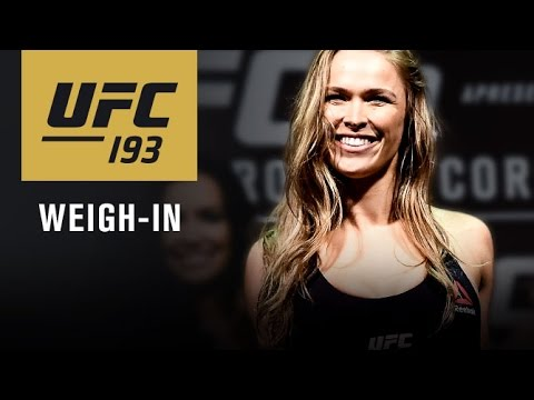 UFC 193: Official Weigh-in
