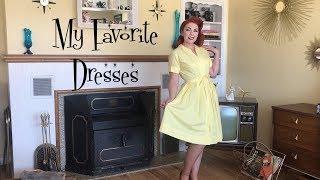 My FAVORITE Dresses||Vintage 1950's