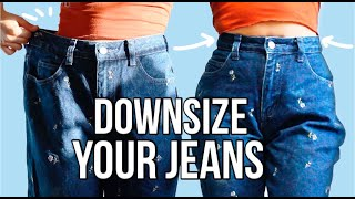 The Best Way to Downsize Jeans - DIY
