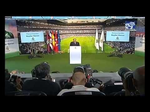 Presentación de Keylor Navas como nuevo jugador del Real Madrid
