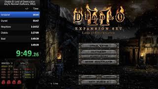 Diablo II: LoD - Any% druid normal 1:38:59