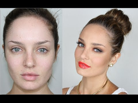 Warm Summer Makeup: Red Lips and Orange Eyes