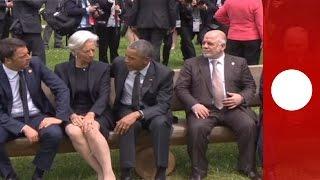 Iraqi PM fails to get Obama's attention in awkward G7 moment
