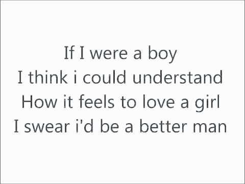 Beyonce - If I Were A Boy Lyrics