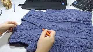 Вязание детского жилета. Knitting of a children's vest.