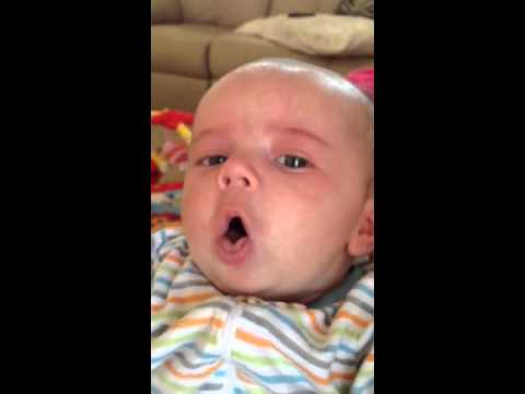Baby with whooping cough