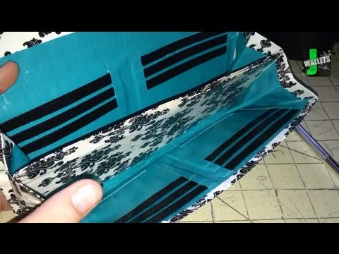 How to Make a Duck Duct Tape Accordian Style Clutch Wallet!