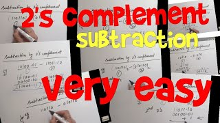2's complement subtraction|  very easy