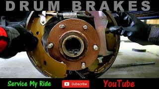 HOW TO REPLACE 'DRUM BRAKES' plus adjusting an bleeding the new drums