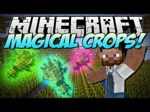 Minecraft   MAGICAL CROPS! (Grow Diamonds. Obsidian and More!)   Mod Showcase [1.5.2]