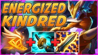 WAIT WTF?! ENERGIZED KINDRED IS ACTUALLY A GOD TIER CRIT BUILD STORMRAZOR BUILD - League of legends