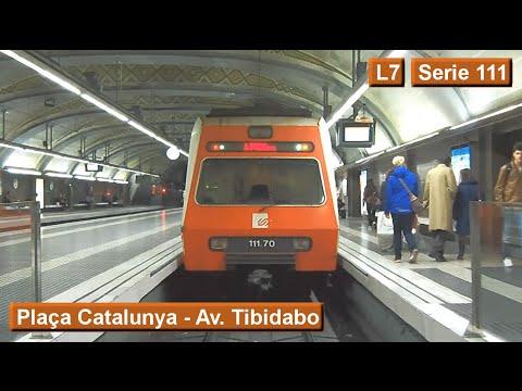 Barcelona Tibidabo Metro l7 Metro Fgc Barcelona Plaça