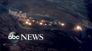 US led coalition drops explosives on ISIS in Iraq l ABC News