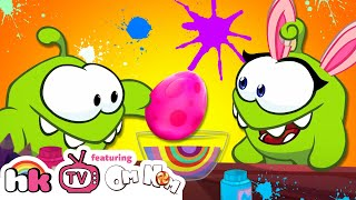 Om Nom & Om Nelle Painting Eggs | Cut The Rope | Best Cartoons for Children by HooplaKidz TV