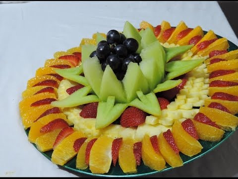 DELICIOUS FRUIT CENTER, HOW TO MAKE -  By J.Pereira Art Carving Fruit