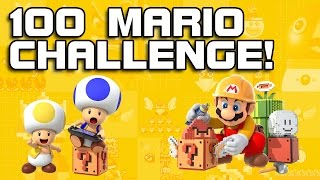 100 MARIO CHALLENGE! Super Mario Maker TOO EASY!