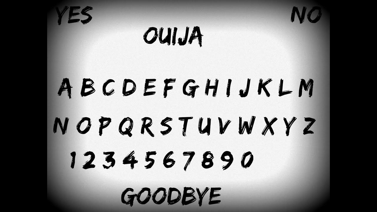 Ouija board rules