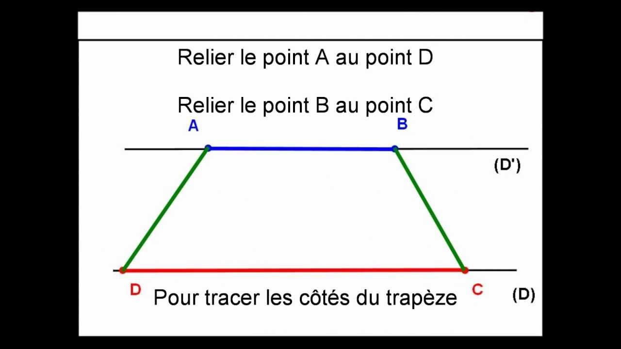 Savoir tracer un trap ze youtube - Comment construire un trapeze ...