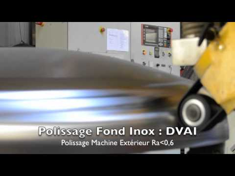 Polissage ext rieur de fond bomb en inox youtube for Polissage inox miroir