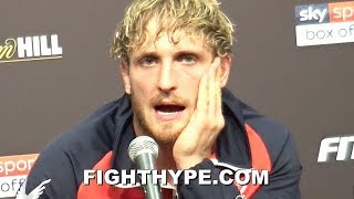 "LOGAN PAUL ""EMOTIONAL"" AFTER LOSS TO KSI; BRUTALLY HONEST ON IF HE WAS ""ANIMAL"" ENOUGH TO HURT HIM"